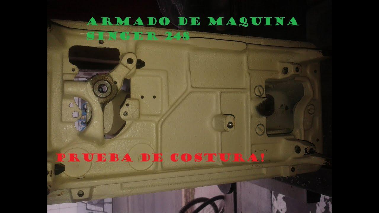 armado de maquina de coser singer 248/ reparacion de