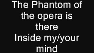 the phantom of the opera lyrics