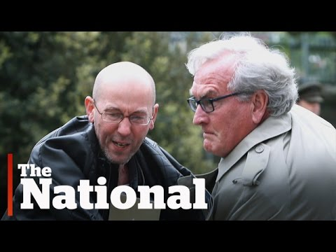 Kevin Vickers tackles protester in Dublin