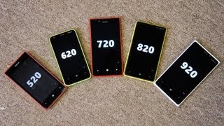 Nokia Lumia family: 520, 620, 720, 820 and 920 compared