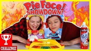 PIE FACE SHOWDOWN!!! Whipped Cream CHALLENGE! |  KITTIESMAMA