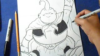 "Cómo dibujar a Majin Boo Gordo ""Dragon Ball Z"" 