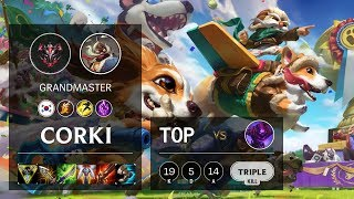 Corki Top vs Malzahar - KR Grandmaster Patch 10.6