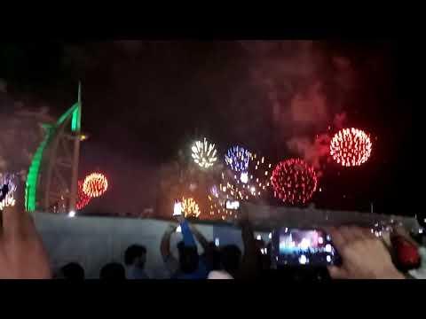Today fireworks in Burj al arab Dubai for new year