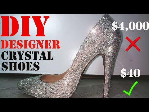 DIY Designer Swarovski Crystal Shoes!!