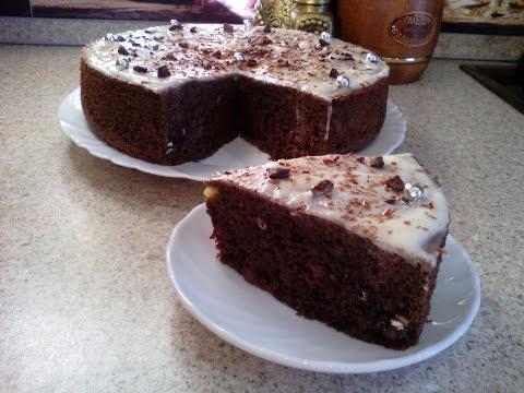 Шоколадный бисквит с бананами. Торт шоколадный, простой рецепт!