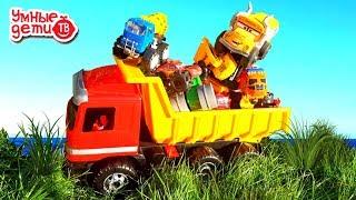 Машины и спецтехника для детей в желтом грузовике. Развивающее видео ТаТаШоу