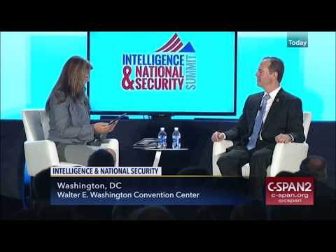 Rep. Adam Schiff (D-CA) & Sen. Mark Warner (D-VA) at the INSA Intelligence Conference
