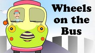 🚌 Wheels on the Bus Go Round | Engilsh Kids Nursery Rhymes | HD 🚌 thumbnail