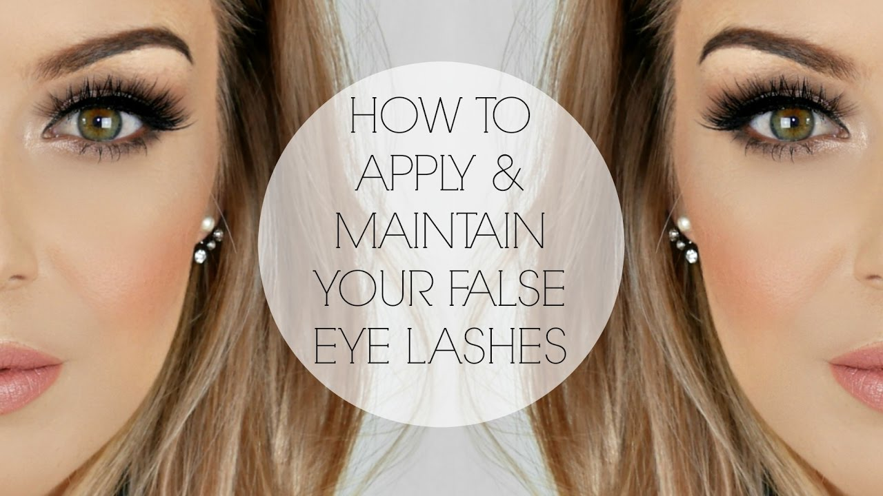 1f9e7593114 How to Apply & Maintain Your False Eye Lashes - YouTube