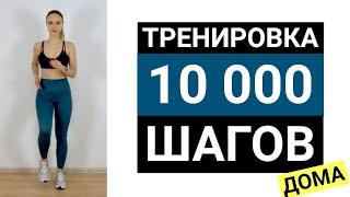 Тренировка 10000 шагов дома | Кардио дома без прыжков и бега