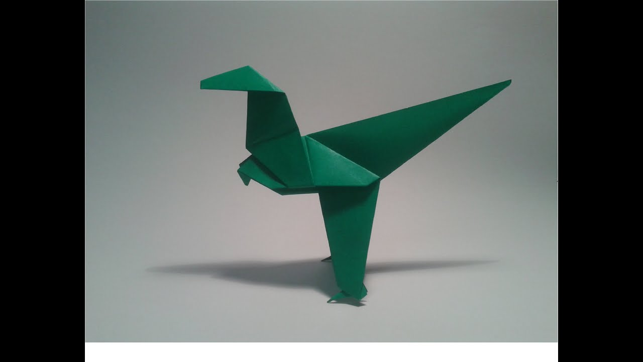 Origami: How to make an easy dinosaur (velociraptor) - YouTube - photo#23