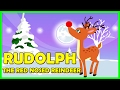 Rudolph the Red Nosed Reindeer Song with LYRICS | Rulolph Song | Tickling Toddlers