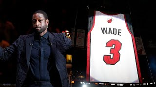 Dwyane Wade Miami Heat Career Tribute And Jersey Retirement