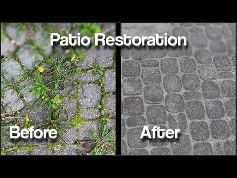 How to permanently eliminate weeds from you interlocking patio.
