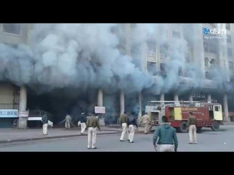 Exclusive Video | Fire on BCM Hights building in Indore