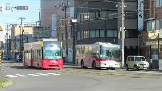 函館市電9600形 函館駅前停留場発車 Hakodate City Tram 9600 series tramcar