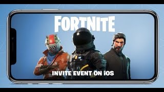 FORTNITE MOBILE IOS GAMEPLAY AND INVITE EVENT LINKS FREE (Fortnite iOS campagne d'invitation)