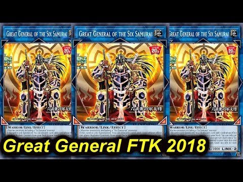 【YGOPRO】Great General Six Samurai FTK Deck 2018 *lockdown & ftk's*