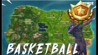 Donde están TODAS las canchas de Basketball   Retos Semana 2 Temporada 5   Fortnite Battle Royale  