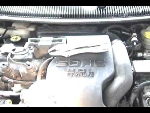how to 1998 2 0 sohc neon timing belt replacement youtubedodge neon 2 0  engine belt