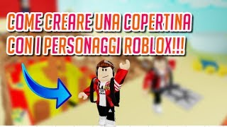How to Create a Cover With ROBLOX PERSONARS! - Tutorial ita