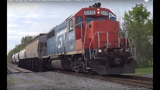 Grand Trunk 6415 on CF&E railroad awesome RS5T Horn! LIVW