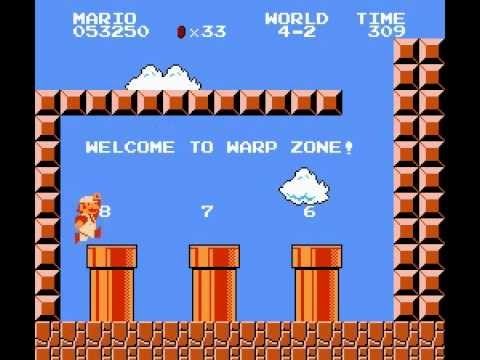 super mario bros world 4 2 secret exit warp zone 6 7 8 youtube