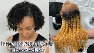 Preserving Natural Curls on Bleached Hair