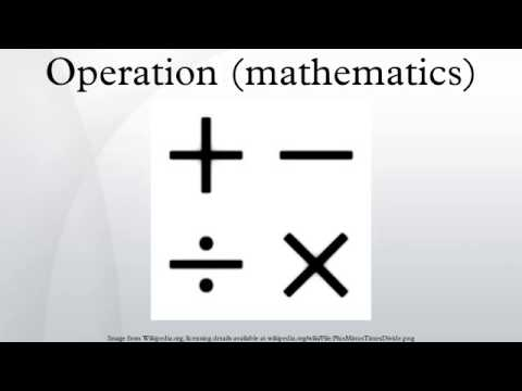 Operation (mathematics)