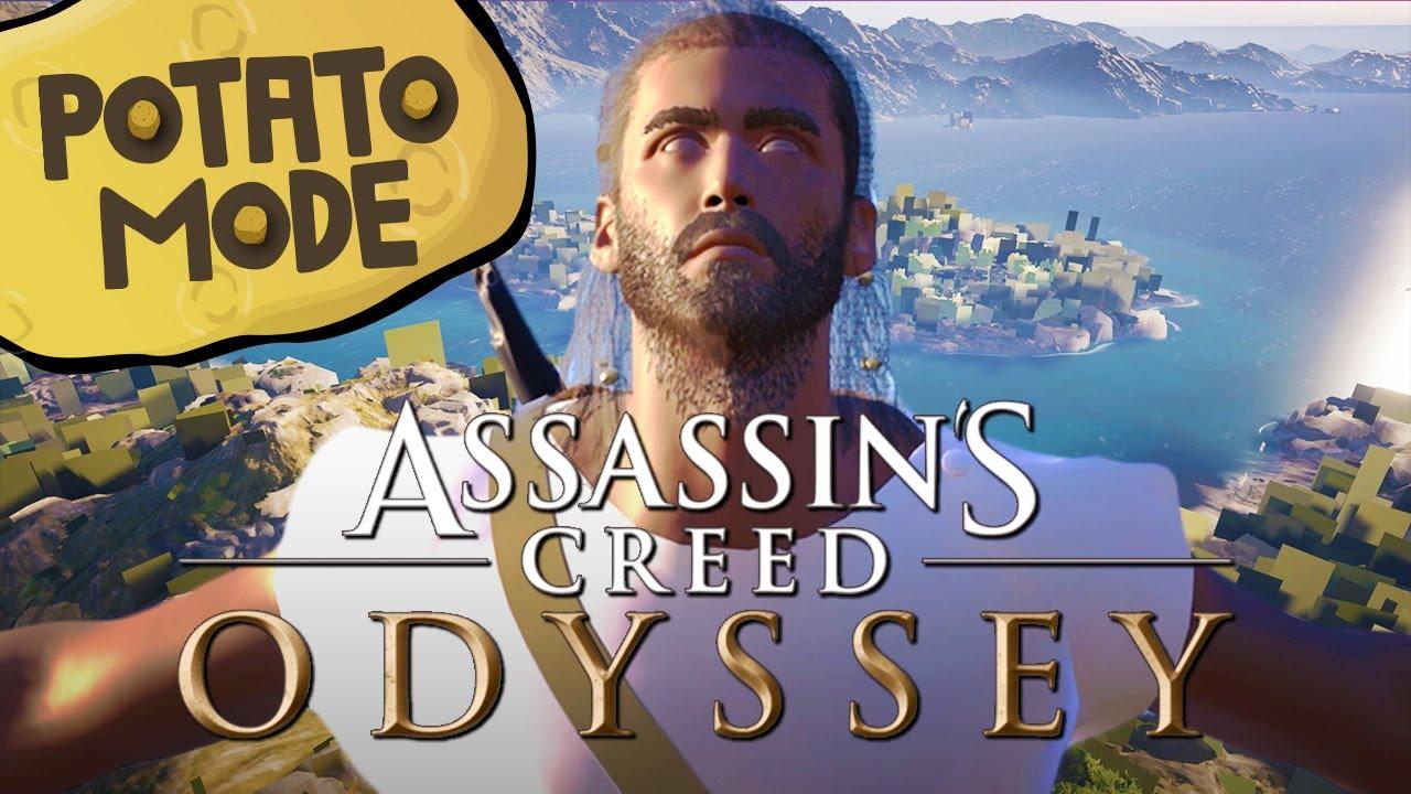 Assassin's Creed Odyssey запустили на ультранизких настройках. Отличный способ получить 60 FPS!
