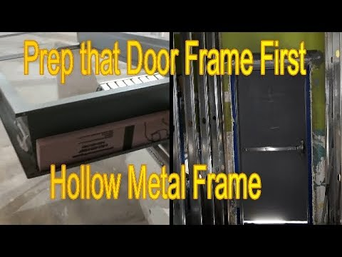 How to Prep a Hollow Metal Door Frame for Grout or Concrete.