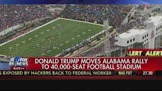 Donald Trump Moves Alabama Rally To 40,000-Seat Football Stadium - America's Newsroom