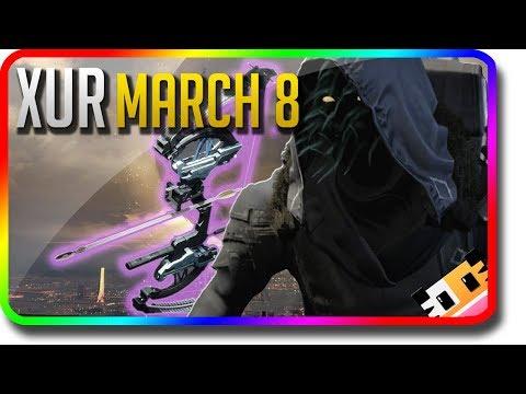 "Destiny 2 - Xur Location & Exotic Armor Perk Rolls ""Trinity Ghoul"" 3/8/2019 (Xur March 8) thumbnail"