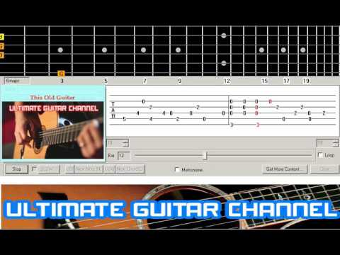 Guitar Solo Tab This Old Guitar John Denver Youtube