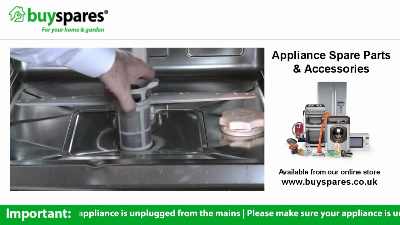 how to remove the filters from a dishwasher kenwood kdw12st3a rh youtube com