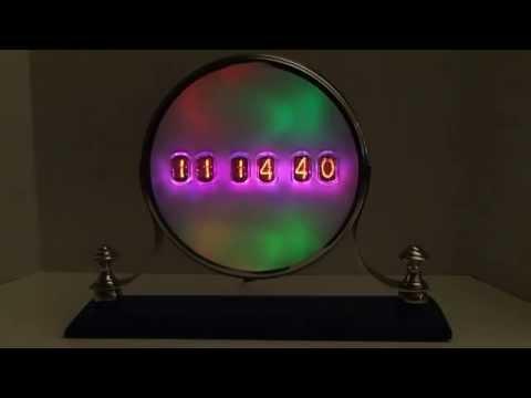 "Six Digit IN-12 Mantel Nixie Clock With Optional GPS Synchronization - ""Opal"""