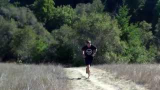 Barefoot Running with Shamma Sandals in The Pogonip, Santa Cruz CA
