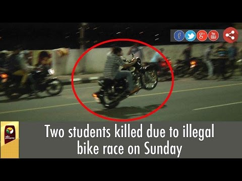 2 Students Died In Illegal Bike Race In Chennai | VISUALS