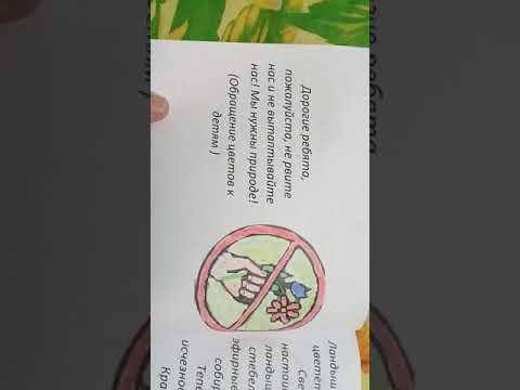 Книжка - малышка Береги растения!