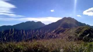 能高越嶺之光被八表碑風景.