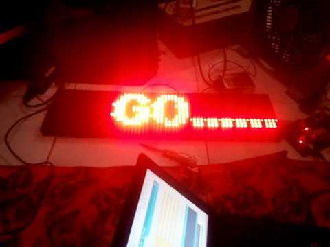 Running Text Modul Led P10 With Arduino Uno Youtube