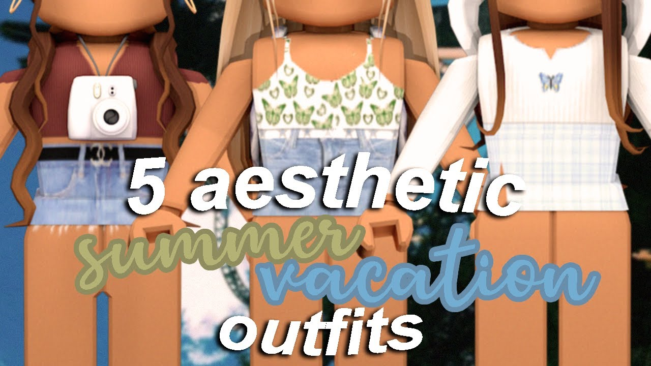 5 Aesthetic Summer Vacation Roblox Outfits Bellarosegames