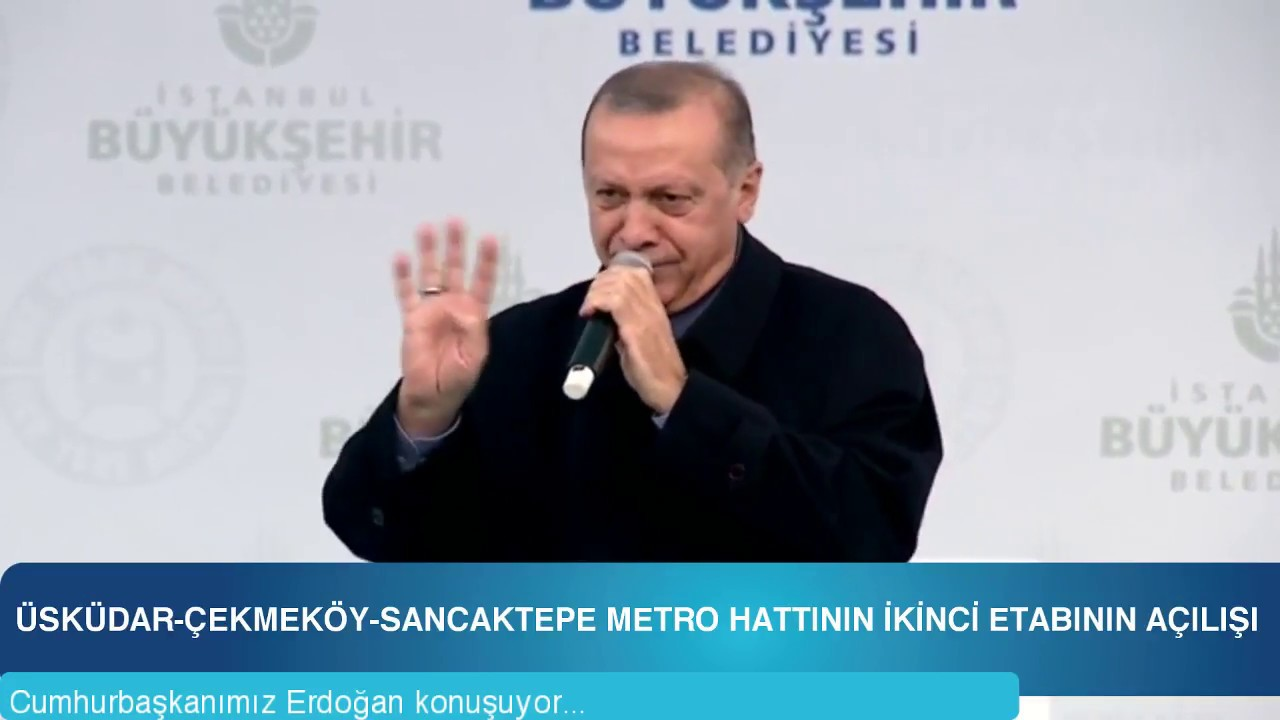 Cumhurbaşkanımız Erdoğan, İstanbul'da metro açılışında konuştu