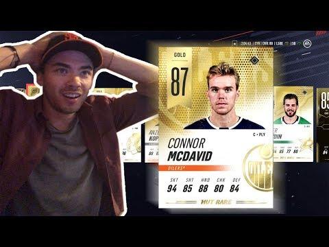 I GOT CONNOR MCDAVID IN NHL 19 HUT!