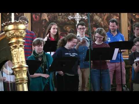 Choir of Merton College, Oxford rehearse The Shepherd's Pipe Carol (DCD34192)