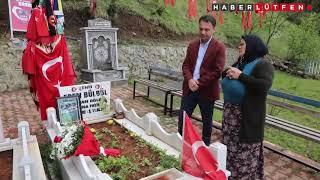 Eren Bülbül'ün annesi, hediye çiçeklerini oğlunun kabrine götürdü