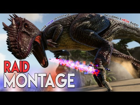Raid Montage - Raid Compilation: One Year of Intense and Funny Ark Raid Gameplay