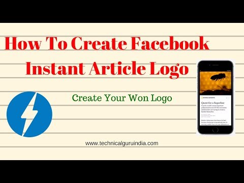 How To Create Facebook Instant Article Logo