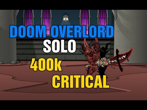 AQWorlds: Doom Overlord Solo with Undead Slayer and Big Critical Strikes